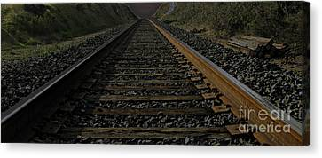 Canvas Print featuring the photograph T Rails by Janice Westerberg