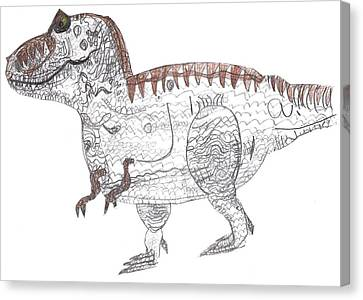 T-rex Canvas Print by Fred Hanna