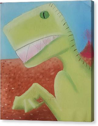 Dinoart Reptillian  Canvas Print by Joshua Maddison