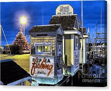 T Wharf Plymouth Massachusetts  Canvas Print