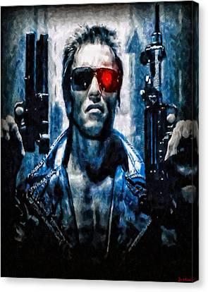 T800 Terminator Canvas Print by Joe Misrasi