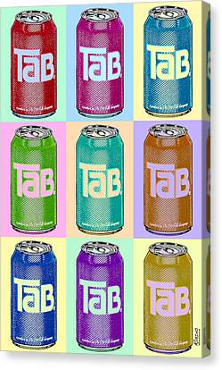 Tab Ode To Andy Warhol Repeat Canvas Print