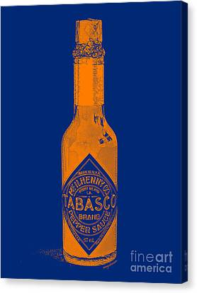 Tabasco Sauce 20130402grd2 Canvas Print by Wingsdomain Art and Photography