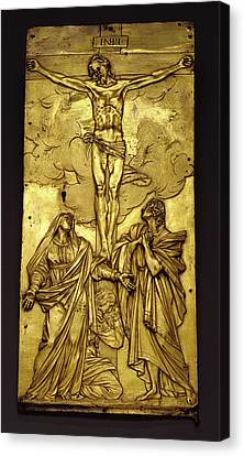 Tabernacle Door With The Crucifixion Francesco Mochi Canvas Print by Litz Collection
