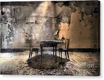 Table 4 Two Canvas Print by Rick Kuperberg Sr