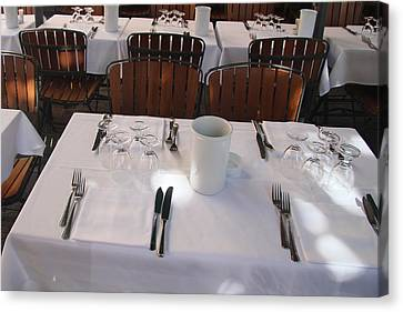 Table For Four Canvas Print by John Bushnell