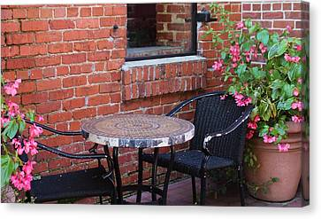 Canvas Print featuring the photograph Table For Two by Cynthia Guinn