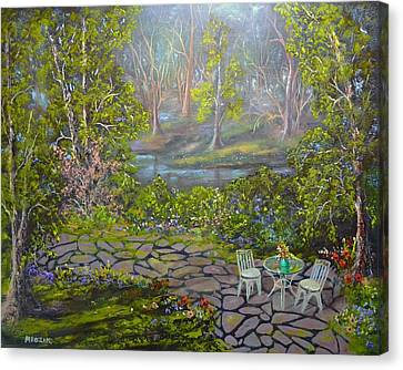 Table For Two Canvas Print by Michael Mrozik