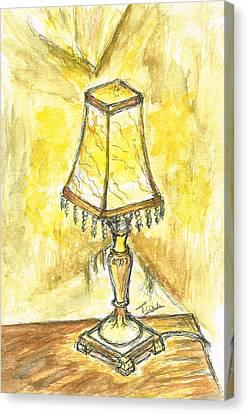 Table Lamp Canvas Print by Teresa White