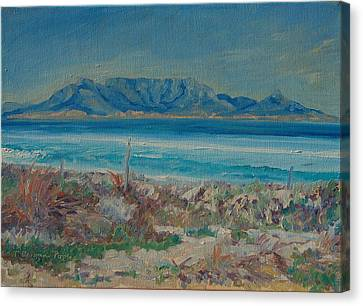 Table Mountain Cape Town Canvas Print by Thomas Bertram POOLE