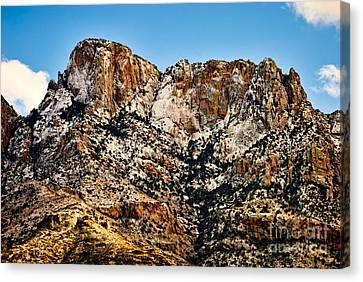 Canvas Print featuring the photograph Table Mountain In Winter 42 by Mark Myhaver