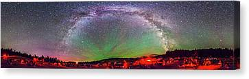 Table Mountain Star Party Panorama 1 Canvas Print by Alan Dyer