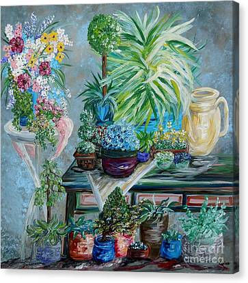 Table Of A Plant Lover Canvas Print by Eloise Schneider