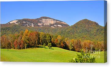Table Rock In Autumn Canvas Print by Lydia Holly