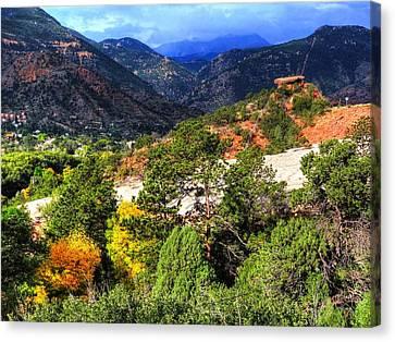 Table Rock To Pike's Peak Canvas Print by Lanita Williams