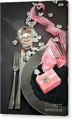 Table Settings Canvas Print by Mythja  Photography