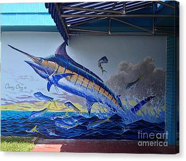 Tackle Store Mural Canvas Print by Carey Chen