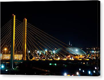 Canvas Print featuring the photograph Tacoma Dome And Bridge by Tikvah's Hope