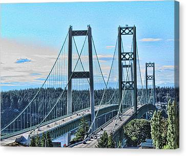Tacoma Narrows Bridge 51 Canvas Print