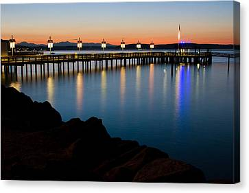 Tacoma Sunset Canvas Print by Bob Noble Photography
