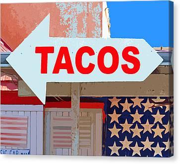 Tacos Canvas Print by Charlette Miller