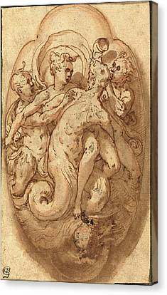 Taddeo Zuccaro, Italian 1529-1566, Mythological Figures Canvas Print