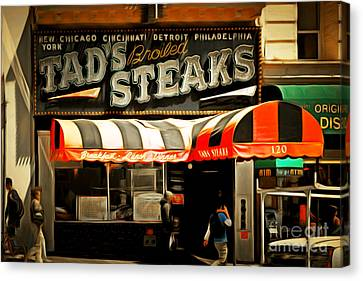 Tads Broiled Steaks Restaurant San Francisco 5d17955brun Canvas Print by Wingsdomain Art and Photography