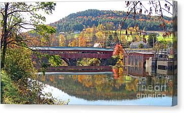 Taftsville Covered Bridge  0190 Canvas Print
