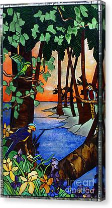 Tahiti Window Canvas Print by Peter Piatt