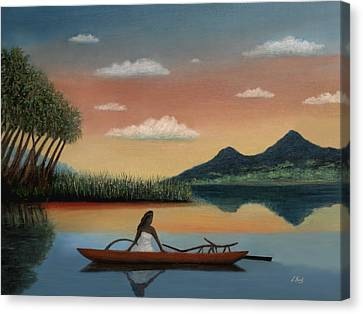 Tahitian Morning Canvas Print