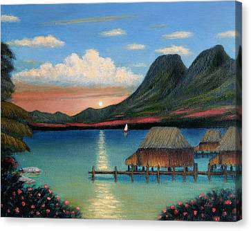 Tahitian Sunset Canvas Print
