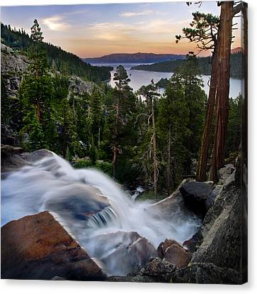 Tahoe Eagle Falls Sunrise 2 Canvas Print by Dave Dilli