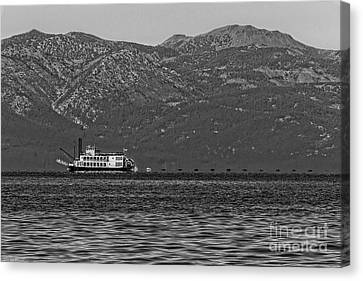 Transportion Canvas Print - Tahoe Queen Black And White by Mitch Shindelbower