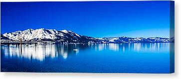 Canvas Print featuring the photograph Tahoe Reflection by Mike Lee