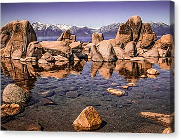 Canvas Print featuring the photograph Tahoe Reflections by Steven Bateson