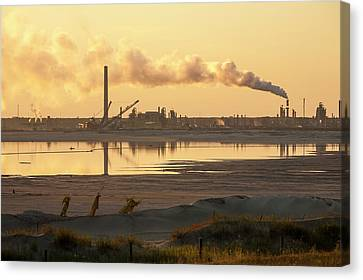 Tailings Pond At A Tar Sands Mine Canvas Print