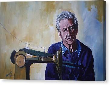 Tailor From Tel-aviv Canvas Print by Marwan  Khayat