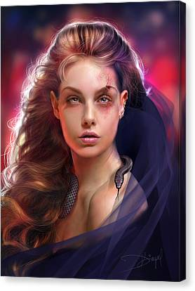 Tainted Jewel Canvas Print by Drazenka Kimpel