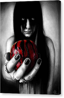 Tainted Love Drawing Canvas Print by Kalie Hoodhood