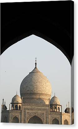 Taj And Arch Canvas Print by Rajiv Chopra