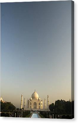 Taj And Morning Sky Canvas Print by Rajiv Chopra