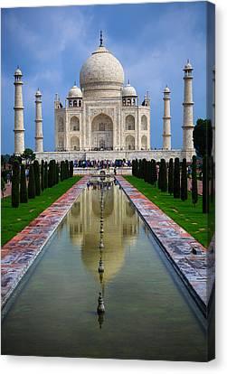 Taj Mahal - India Canvas Print by Matthew Onheiber