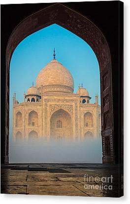 Taj Mahal From Jawab Canvas Print