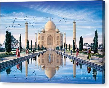 Taj Mahal Canvas Print by Steve Crisp
