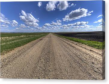 Take A Back Road Canvas Print by Aaron J Groen