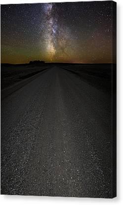Take A Back Road Night Version Canvas Print