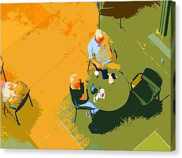 Take A Break Canvas Print by Nancy Merkle