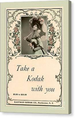 Take A Kodak With You Canvas Print by Anne Kitzman