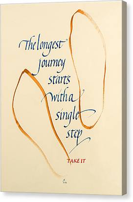 Journey Canvas Print - Take It by Jacqueline Svaren