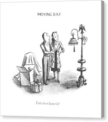 Unexpected Canvas Print - Take It Or Leave It? by William Steig